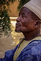 Elderly Djerma (Zarma) Nigerien Man, Ouallam, Niger.