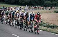 Lars Bak (DEN/Lotto-Soudal) leading the peloton<br /> <br /> 104th Tour de France 2017<br /> Stage 10 - Périgueux › Bergerac (178km)