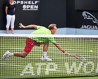 18-06-13, Netherlands, Rosmalen,  Autotron, Tennis, Topshelf Open 2013, , Sreve Darcis<br /> <br /> Photo: Henk Koster
