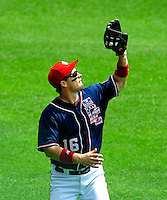 4 July 2009: Washington Nationals outfielder Josh Willingham in action against the Atlanta Braves at Nationals Park in Washington, DC. The Nationals rallied with 4 runs in the 8th to defeat the Braves 5-3 and take the second game of the 3-game weekend series. Mandatory Credit: Ed Wolfstein Photo