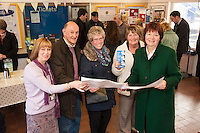 Pictured from left are Faye Lambert, Community Rail Officer, North Staffs, Brian Lycett, Helen Owen and Mary Maxfield, Friends of Kidsgrove Station with Joan Walley MP for Stoke on Trent North