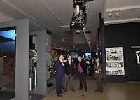 --- NO TABLOIDS NO SITE WEB --- Visite de l'exposition ' De Melies a la 3D : La Machine cinema ' par S.A.S Le Prince Albert II de Monaco, accompagne de Vincent Vatrican (Directeur des archives de Monaco) , Frederic Bonnaud , Jean-Christophe Mikhailoff , et Laurent Mannoni - La Cinematheque francaise 18 janvier 2017 - Paris - France