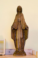 Statue of Our Lady, the Virgin Mary,  in the school Chapel. Roman Catholic  State secondary school.