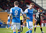 St Johnstone v Partick Thistle…28.04.18…  McDiarmid Park    SPFL<br />Liam Craig and Steven MacLean<br />Picture by Graeme Hart. <br />Copyright Perthshire Picture Agency<br />Tel: 01738 623350  Mobile: 07990 594431