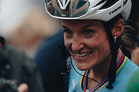 2nd October 2021 Paris–Roubaix.The first ever women's edition of Paris Roubaix. Lizzy Deignan (GBR) takes the win