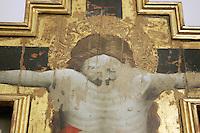 Dettaglio di un crocifisso modellato da Giovanni da Modena nella Pinacoteca Nazionale di Bologna.<br /> Detail of a modelled cross by Giovanni da Modena, in Bologna's National Pinacoteca. <br /> UPDATE IMAGES PRESS/Riccardo De Luca