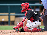 Westland Hialeah Wildcats catcher Ray Sobrino (21) during the 42nd Annual FACA All-Star Baseball Classic on June 6, 2021 at Joker Marchant Stadium in Lakeland, Florida.  (Mike Janes/Four Seam Images)