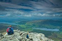 Kinloch Rannoch, Loch Rannoch and Dunalastair Water from the summit of Schiehallion, Perthshire