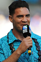Dan Leo commentating during Match 6 of the Rugby World Cup 2015 between Samoa and USA - 20/09/2015 - Brighton Community Stadium, Brighton <br /> Mandatory Credit: Rob Munro/Stewart Communications