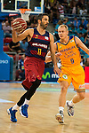 Herbalife Gran Canaria's player Sasu Salin and FC Barcelona Lassa player Juan Carlos Navarro during the final of Supercopa of Liga Endesa Madrid. September 24, Spain. 2016. (ALTERPHOTOS/BorjaB.Hojas)