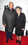 Mayor David Dinkins & wife.attending the Opening Night Performance of 'The Mountaintop' at the Bernhard B.  Jacobs Theatre in New York City.