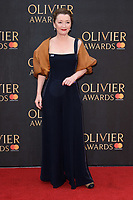 Lesley Manville<br /> arriving for the Olivier Awards 2018 at the Royal Albert Hall, London<br /> <br /> ©Ash Knotek  D3392  08/04/2018