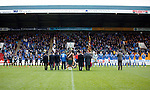 St Johnstone v Kilmarnock...07.11.15  SPFL  McDiarmid Park, Perth<br /> A Remembrance Service was held before kick off....<br /> Picture by Graeme Hart.<br /> Copyright Perthshire Picture Agency<br /> Tel: 01738 623350  Mobile: 07990 594431