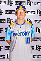 Gabe Huante (10) of Lutheran High School of Orange County in Yorba Linda, California during the Baseball Factory All-America Pre-Season Tournament, powered by Under Armour, on January 12, 2018 at Sloan Park Complex in Mesa, Arizona.  (Mike Janes/Four Seam Images)