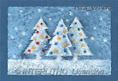 Isabella, CHRISTMAS SYMBOLS, corporate, paintings, 3 white trees, balls(ITKE501934,#XX#) Symbole, Weihnachten, Geschäft, símbolos, Navidad, corporativos, illustrations, pinturas