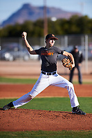 Kolbie Blakely (45), from Plainville, Massachusetts, while playing for the Giants during the Under Armour Baseball Factory Recruiting Classic at Gene Autry Park on December 30, 2017 in Mesa, Arizona. (Zachary Lucy/Four Seam Images)