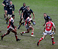 Photo: Richard Lane/Richard Lane Photography. Wasps v Ulster Rugby.  European Rugby Champions Cup. 21/01/2018. Ulster's Christian Lealiifano passes.