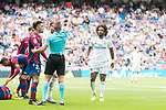 Referee shows to Real Madrid's Marcelo red card receive during La Liga match between Real Madrid and Levante UD at Santiago Bernabeu Stadium in Madrid, Spain September 09, 2017. (ALTERPHOTOS/Borja B.Hojas)