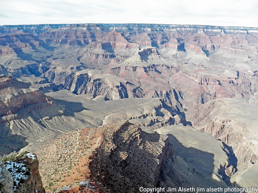 The majestic Grand Canyon on an unusually warm February day...