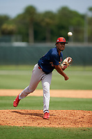 GCL Cardinals pitcher Wilman Madera (21) during a Gulf Coast League game against the GCL Marlins on August 12, 2019 at the Roger Dean Chevrolet Stadium Complex in Jupiter, Florida.  GCL Marlins defeated the GCL Cardinals 9-2.  (Mike Janes/Four Seam Images)