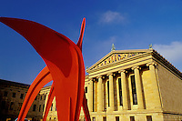 art museum, Philadelphia, PA, Pennsylvania, Philadelphia Museum of Art, red (Calder) sculpture, Philadelphia.