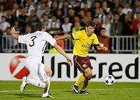 Fudbal, Champions league,Group H season 2010/2011.Partizan Vs. Arsenal.Andrey Arshavin, right and Ivan Stevanovic.Beograd, 29.09.2010..foto: Srdjan Stevanovic/Starsportphoto ©
