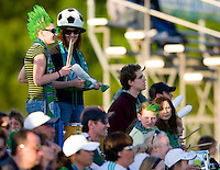 Fans enjoy the game between St. Louis Athletica and FC Gold Pride during their WPS match at Korte Stadium, in St. Louis, MO, May 9 2009.  St. Louis Athletica won the match 1-0.