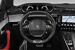 Car pictures of steering wheel view of a 2019 Peugeot 508 GT 5 Door Hatchback