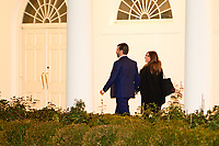 President Donald Trump's son Donald Trump Jr. and Kimberly Guilfoyle return to the White House after