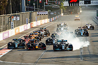 44 HAMILTON Lewis (gbr), Mercedes AMG F1 GP W12 E Performance, action and 11 PEREZ Sergio (mex), Red Bull Racing Honda RB16B, action at the restart of the race start of the race, depart, during the Formula 1 Azerbaijan Grand Prix 2021 from June 04 to 06, 2021 on the Baku City Circuit, in Baku, Azerbaijan -<br /> FORMULA 1 : Grand Prix Azerbaijan <br /> 06/06/2021 <br /> Photo DPPI/Panoramic/Insidefoto <br /> ITALY ONLY