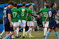 Jonty Roubos of the Wairarapa United celebrates a goal with team mates during the Central League Football -  North Wellington FC v Wairarapa United at Alex Moore Park ( Alex Moore Artificial) / Johnsonville / New Zealand on Saturday 29 May 2021.<br /> Copyright photo: Masanori Udagawa /  www.photosport.nz