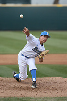 Ryan Garcia (32) of the of UCLA Bruins pitches against the University of San Diego Toreros at Jackie Robinson Stadium on March 4, 2017 in Los Angeles, California.  USD defeated UCLA, 3-1. (Larry Goren/Four Seam Images)
