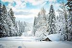 Deutschland, Bayern, Chiemgau, Inzell, Ortsteil Adlgass: Winterlandschaft beim Forsthaus Adlgass | Germany, Upper Bavaria, Chiemgau, Inzell, district Adlgass: winter scene near Forester's House Adlgass