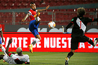 13th November 2020; National Stadium of Santiago, Santiago, Chile; World Cup 2020 Football qualification, Chile versus Peru;  Arturo Vidal of Chile scores his second goal in the 35th minute 2-0 past Peru keeper Pedro Gallese