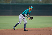 AZL Mariners shortstop Cesar Izturis Jr (3) during an Arizona League game against the AZL White Sox at Camelback Ranch on July 8, 2018 in Glendale, Arizona. The AZL White Sox defeated the AZL Mariners 8-5. (Zachary Lucy/Four Seam Images)
