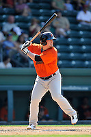 First baseman Skyler Ewing (25) of the Augusta GreenJackets bats in a game against the Greenville Drive on Sunday, June 12, 2016, at Fluor Field at the West End in Greenville, South Carolina. Greenville won, 11-8. (Tom Priddy/Four Seam Images)