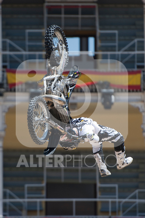 Training Red Bull X-Fighters 2012. Madrid. Rider In the picture Javier Villegas CHI. July 19, 2012. (ALTERPHOTOS/Ricky Blanco)