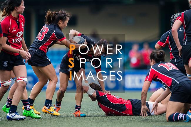 Kwong Sau Yan of Dragons (C) in action during the Women's National Super Series 2017 on 13 May 2017, in Hong Kong Football Club, Hong Kong, China. Photo by Marcio Rodrigo Machado / Power Sport Images