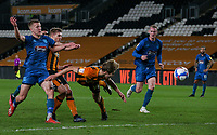 Hull City's Martin Samuelsen can't find the net<br /> <br /> Photographer Alex Dodd/CameraSport<br /> <br /> EFL Papa John's Trophy - Northern Section - Group H - Hull City v Grimsby Town - Tuesday 17th November 2020 - KCOM Stadium - Kingston upon Hull<br />  <br /> World Copyright © 2020 CameraSport. All rights reserved. 43 Linden Ave. Countesthorpe. Leicester. England. LE8 5PG - Tel: +44 (0) 116 277 4147 - admin@camerasport.com - www.camerasport.com