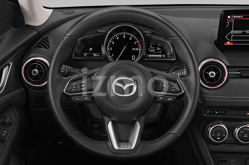 Car pictures of steering wheel view of a 2019 Mazda CX-3 Grand-Touring 5 Door SUV Steering Wheel
