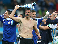 Martin Demichelis of Argentina in tears at full time after winning the penalty shoot out