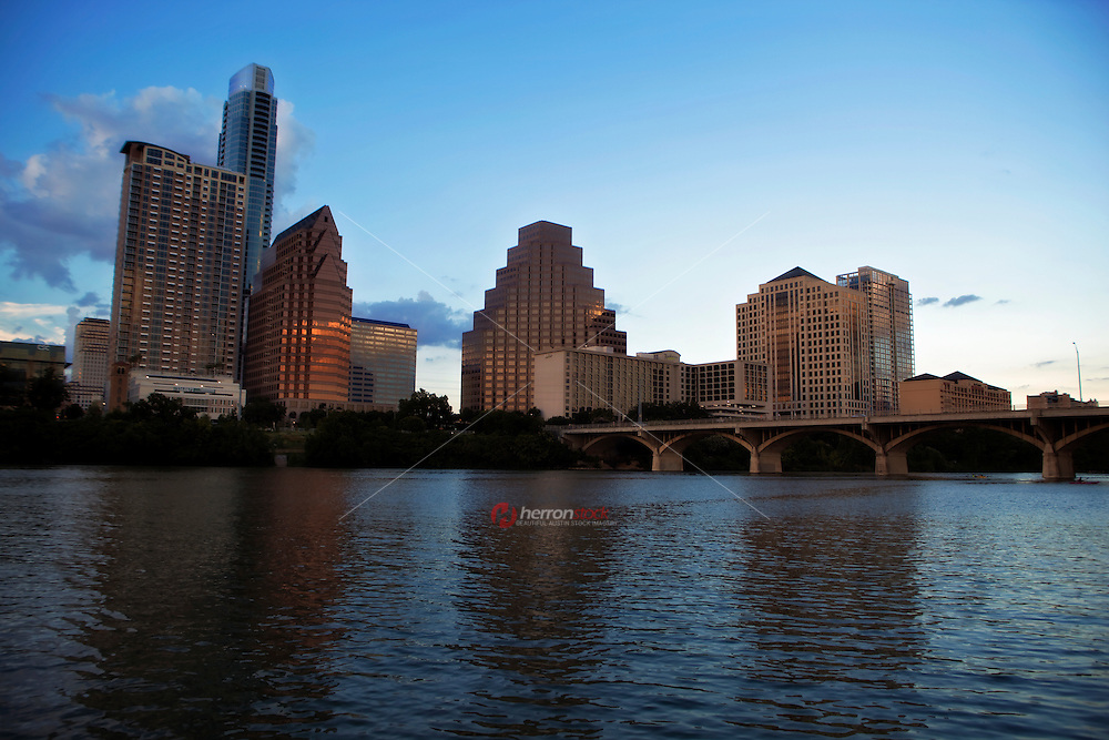 Dusk settles on the Austin Skyline