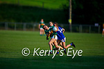 A tussle between Seodhla Colleran of Kerry and Abbey Power of Tipperary in the Munster LGFA U14 football championship