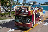 Miami, Florida.  Big Bus and Passengers.