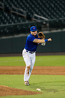 AZL Cubs third baseman Cam Balego (82) makes a throw to first base against the AZL White Sox on August 13, 2017 at Sloan Park in Mesa, Arizona. AZL White Sox defeated the AZL Cubs 7-4. (Zachary Lucy/Four Seam Images)