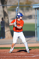 Tyler Stopera (47), from St. Anthony Village, Minnesota, while playing for the Orioles during the Under Armour Baseball Factory Recruiting Classic at Red Mountain Baseball Complex on December 29, 2017 in Mesa, Arizona. (Zachary Lucy/Four Seam Images)