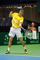 06-04-12, Netherlands, Amsterdam, Tennis, Daviscup, Netherlands-Rumania,  Petru Alexandru Luncanu
