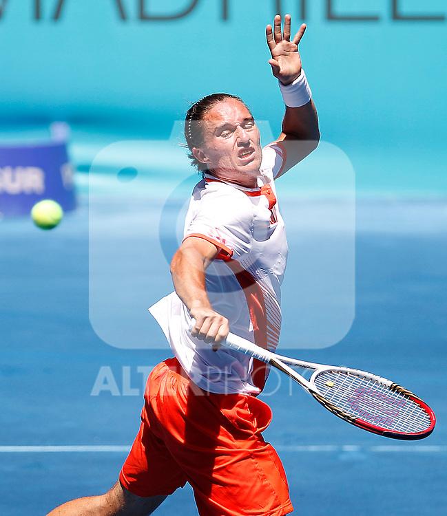 Alexandr Dolgopolov during Madrid Open Tennis 2012 Match.May, 10, 2012(ALTERPHOTOS/ALFAQUI/Acero)