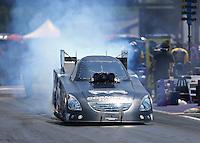 Apr 30, 2016; Baytown, TX, USA; NHRA funny car driver Jim Campbell during qualifying for the Spring Nationals at Royal Purple Raceway. Mandatory Credit: Mark J. Rebilas-USA TODAY Sports