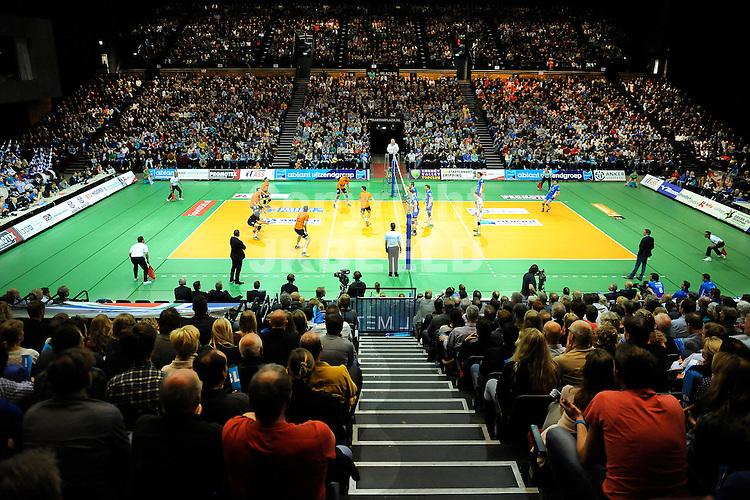 GRONINGEN - Volleybal, Abiant Lycurgus - Orion , Martiniplaza, Eredivisie  finale play-off 3 heren, seizoen 2015-2016, 24-04-2016,  overzicht van vol Martiniplaza